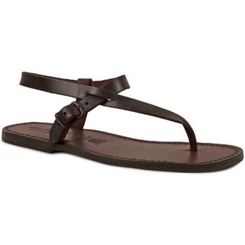 Pantofi Bărbați Sandale  Gianluca - L'artigiano Del Cuoio 592 U MORO CUOIO Testa di Moro