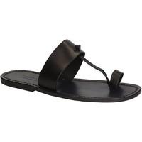Pantofi Bărbați  Flip-Flops Gianluca - L'artigiano Del Cuoio 554 U NERO CUOIO nero