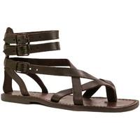 Pantofi Bărbați Sandale  Gianluca - L'artigiano Del Cuoio 564 U MORO CUOIO Testa di Moro