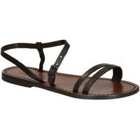Pantofi Femei Sandale  Gianluca - L'artigiano Del Cuoio 591 D MORO CUOIO Testa di Moro