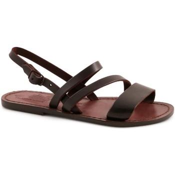 Pantofi Femei Sandale  Gianluca - L'artigiano Del Cuoio 598 D MORO CUOIO Testa di Moro