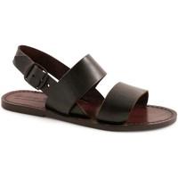 Pantofi Femei Sandale  Gianluca - L'artigiano Del Cuoio 500X D MORO CUOIO Testa di Moro