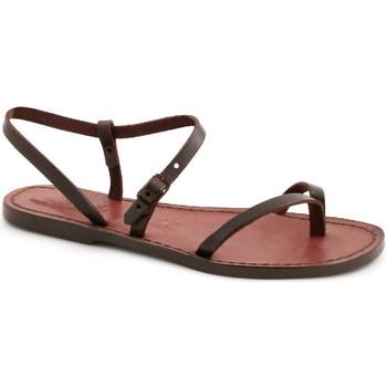 Pantofi Femei Sandale  Gianluca - L'artigiano Del Cuoio 590 D MORO CUOIO Testa di Moro