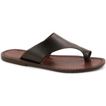 Pantofi Bărbați Papuci de vară Gianluca - L'artigiano Del Cuoio 521 D MORO CUOIO Testa di Moro