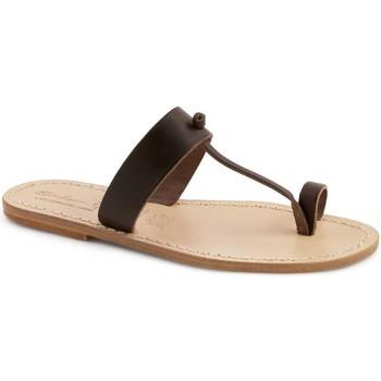 Pantofi Femei Papuci de vară Gianluca - L'artigiano Del Cuoio 554 U MORO LGT-CUOIO Testa di Moro