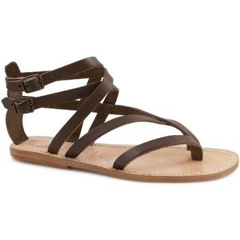 Pantofi Femei Sandale  Gianluca - L'artigiano Del Cuoio 574 D MORO LGT-CUOIO Testa di Moro