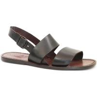 Pantofi Femei Sandale  Gianluca - L'artigiano Del Cuoio 500X U MORO CUOIO Testa di Moro