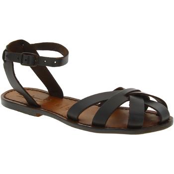 Pantofi Femei Sandale  Gianluca - L'artigiano Del Cuoio 503 D MORO CUOIO Testa di Moro