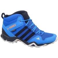 Pantofi Copii Drumetie și trekking adidas Originals Terrex AX2R Mid CP Albastre, De turcoaz