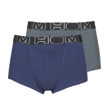 Lenjerie intimă Bărbați Boxeri Hom HOM BOXERLINES BOXER BRIEF HO1 PACK X2 Gri / Bleumarin