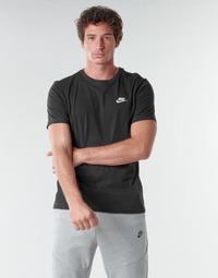 Îmbracaminte Bărbați Tricouri mânecă scurtă Nike M NSW CLUB TEE Negru / Alb
