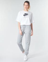 Îmbracaminte Femei Pantaloni de trening Nike W NSW ESSNTL PANT REG FLC Gri / Alb