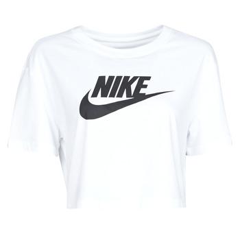 Îmbracaminte Femei Tricouri mânecă scurtă Nike W NSW TEE ESSNTL CRP ICN FTR Alb / Negru