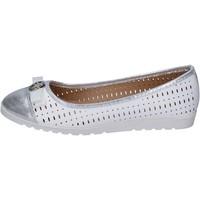 Pantofi Femei Balerin și Balerini cu curea Lancetti BP563 Alb
