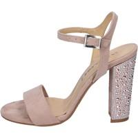 Pantofi Femei Sandale  Olga Rubini sandali camoscio sintetico strass Rosa