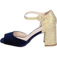 Pantofi Femei Sandale  Olga Rubini sandali velluto glitter Blu