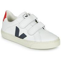 Pantofi Copii Pantofi sport Casual Veja SMALL-ESPLAR-VELCRO Alb / Albastru / Roșu