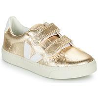 Pantofi Fete Pantofi sport Casual Veja SMALL-ESPLAR-VELCRO Auriu / Alb