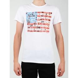 Îmbracaminte Bărbați Tricouri mânecă scurtă Wrangler S/S Modern Flag Tee W7A45FK12 white