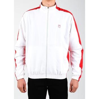 Îmbracaminte Bărbați Bluze îmbrăcăminte sport  K-Swiss Accomplish Jacket 100250-119 white, red