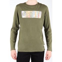 Îmbracaminte Bărbați Tricouri cu mânecă lungă  Lee L848AI olive green