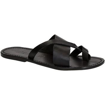 Pantofi Bărbați  Flip-Flops Gianluca - L'artigiano Del Cuoio 545 U NERO CUOIO nero