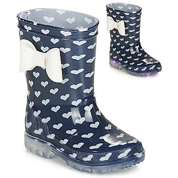 Pantofi Fete Cizme de cauciuc Be Only AMOUR FLASH Albastru