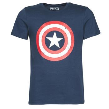 Îmbracaminte Bărbați Tricouri mânecă scurtă Casual Attitude CAPTAIN AMERICA LOGO Bleumarin