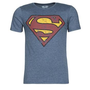 Îmbracaminte Bărbați Tricouri mânecă scurtă Yurban SUPERMAN LOGO VINTAGE Albastru
