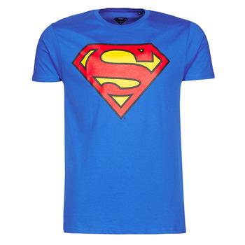 Îmbracaminte Bărbați Tricouri mânecă scurtă Casual Attitude SUPERMAN LOGO CLASSIC Albastru