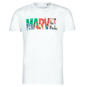 Îmbracaminte Bărbați Tricouri mânecă scurtă Casual Attitude MARVEL HERO LOGO Alb