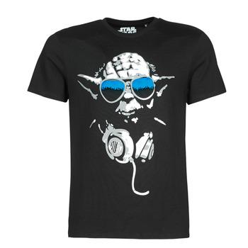 Îmbracaminte Bărbați Tricouri mânecă scurtă Yurban DJ YODA COOL Negru