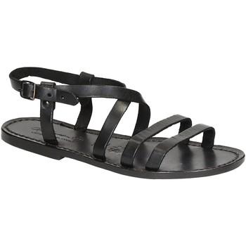 Pantofi Femei Sandale  Gianluca - L'artigiano Del Cuoio 531 D NERO CUOIO nero