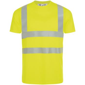 Îmbracaminte Bărbați Tricouri mânecă scurtă Sols MERCURE PRO VISIBLITY WORK Amarillo