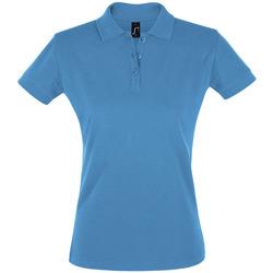 Îmbracaminte Femei Tricou Polo mânecă scurtă Sols PERFECT COLORS WOMEN Azul