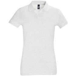 Îmbracaminte Femei Tricou Polo mânecă scurtă Sols PERFECT COLORS WOMEN Gris