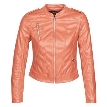 Îmbracaminte Femei Jachete din piele și material sintetic Vero Moda VMAWARDALMA Cărămiziu