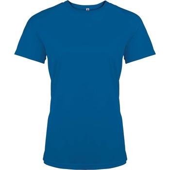 Îmbracaminte Femei Tricouri mânecă scurtă Proact T-Shirt femme manches courtes  Sport bleu marine