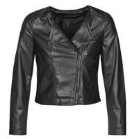 Îmbracaminte Femei Jachete din piele și material sintetic Only ONLDALY Negru