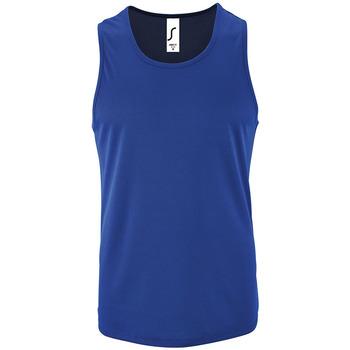 Îmbracaminte Bărbați Maiouri și Tricouri fără mânecă Sols SPORT TT MEN Azul