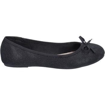 Pantofi Femei Balerin și Balerini cu curea Sara Lopez ballerine tessuto Nero