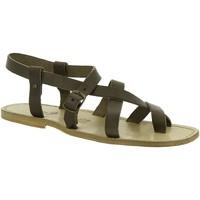 Pantofi Femei Sandale  Gianluca - L'artigiano Del Cuoio 530 U FANGO CUOIO Fango