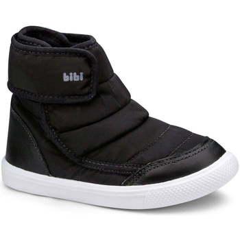 Pantofi Fete Cizme Bibi Shoes Cizme Fetite Agility Mini Negru Cu Velcro Negru