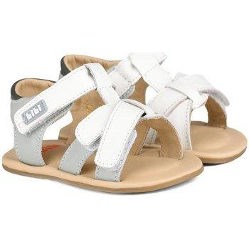 Pantofi Băieți Sandale  Bibi Shoes Sandale Baietei Bibi Afeto Albe/Gri Alb
