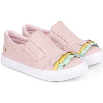Pantofi Fete Pantofi sport Casual Bibi Shoes Pantofi Fete Bibi Agility Roz Cu Volane Roz