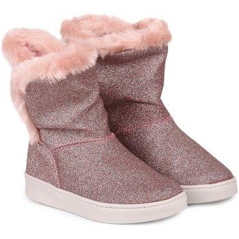 Pantofi Fete Cizme Bibi Shoes Cizme Fete Bibi Urban Sampanie/Glitter Cu Detaliu Blanita Roz