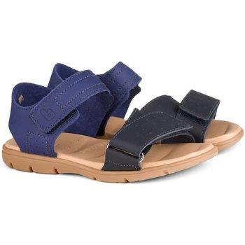 Pantofi Băieți Sandale  Bibi Shoes Sandale Baieti Bibi Basic Naval/Brandy Bleumarin