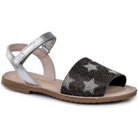 Pantofi Fete Sandale  Bibi Shoes Sandale fete BIBI Classic Stelute Argintii Metalizat Argintiu