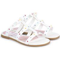 Pantofi Fete Sandale  Bibi Shoes Papuci Fete Bibi Fresh Albi Alb