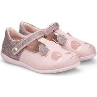 Pantofi Fete Balerin și Balerini cu curea Bibi Shoes Balerini BIBI Rainbow Mini Roz Glitter Cu Imprimeu Panda Roz